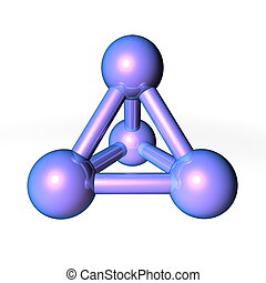 Molecule Structure Metallic Blue-Purple - simple metallic...