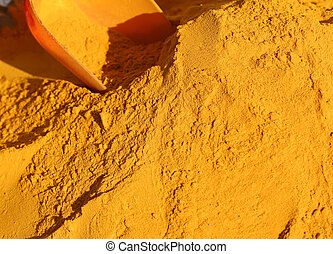Turmeric powder background - Turmeric powder for sale in the...