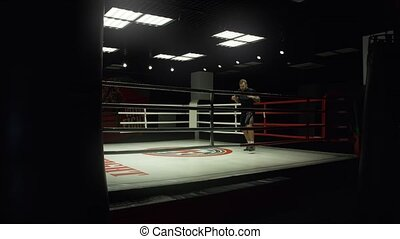 Shadow Boxing in the ring. The General plan