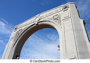 Christchurch - Bridge of Remembrance - War Memorial in...