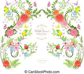 elegant floral background for your design