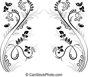lovely floral frame for your design