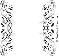 elegante floral frame for your design