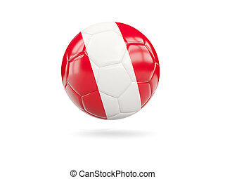 Football with flag of peru