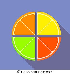 Flat graphic citrus fruits