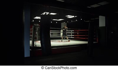 Shadow Boxing in the ring. The long-range plan
