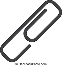 Attachment icon in black on a white background. Vector illustration