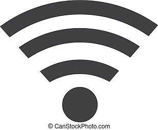 Wifi icon in black on a white background. Vector illustration
