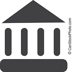 Museum icon in black on a white background. Vector...