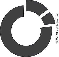 Pie chart icon in black on a white background. Vector...