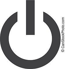 Power icon in black on a white background. Vector...