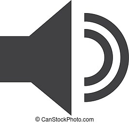 Volume icon in black on a white background. Vector illustration