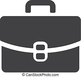 Case icon in black on a white background. Vector...