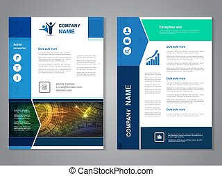 Vector modern brochure with arrow design, abstract flyer...