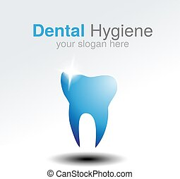 Vector dentist logo design template. Tooth symbol for Dental clinic or mark for dental hygiene