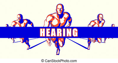 Hearing as a Competition Concept Illustration Art