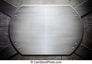 Grunge metal texture (industrial edition) shine plate