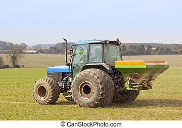 esparcimiento, fertilizante