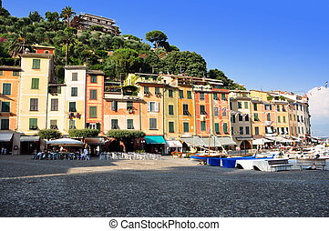 Portofino village harbor, Liguria, Italy