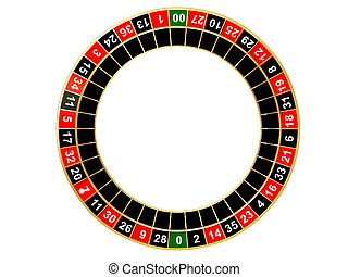 roulette wheel - 3d rendered illustration of an isolated...