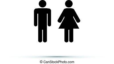 men and women toilet sign