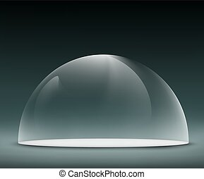 glass dome on a dark background