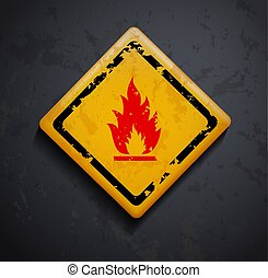 metal sign fire