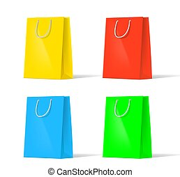set of multi-colored bags