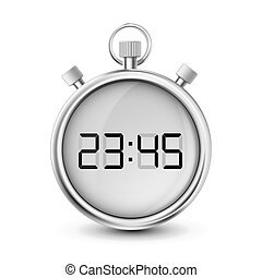 digital stopwatch isolated on white background