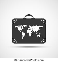 Vector icons travel suitcases