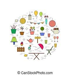 Garden party design concept.