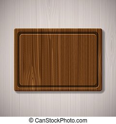 wooden board for cutting food