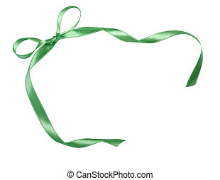 green ribbon celebration christmas birthday - close up of...