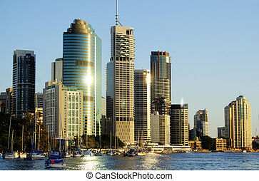 Brisbane City Australia - Skyline of Brisbane city CBD in...