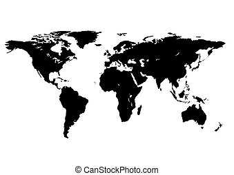 world map isolated on a white background
