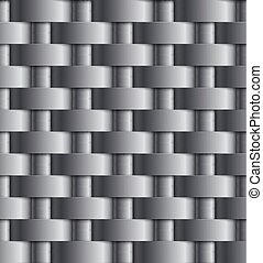 Vector illustration of metal wire netting