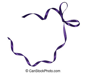 purple ribbon celebration christmas birthday - close up of...