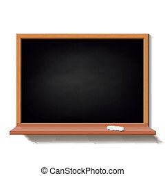Black school board isolated on white background