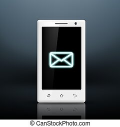 envelope icon on the screen of your smartphone