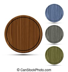 set of round kitchen boards