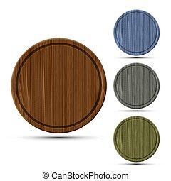set of round kitchen boards