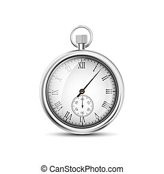 vector pocket watch on a white background