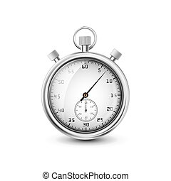 vector stopwatch on white background