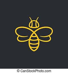 Bee Logo design - Bee or wasp logo design vector...