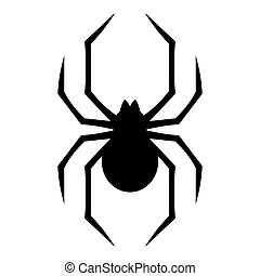 Spider silhouette icon - Stylized geometric spider icon...
