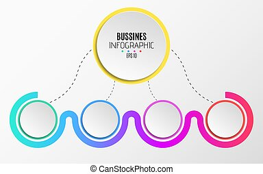 Modern infographics for business. An abstract diagram in a...