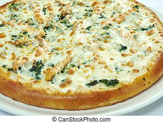 Italian pizza with salmon