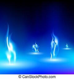 blauwe,  black, vlam, achtergrond