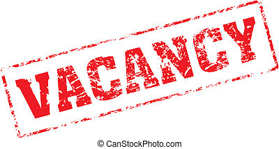 vacancy - Grungy ink stamp, vector format very easy to edit