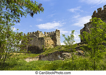 walls of old fortress Yedi Koule, Thessaloniki - walls of...